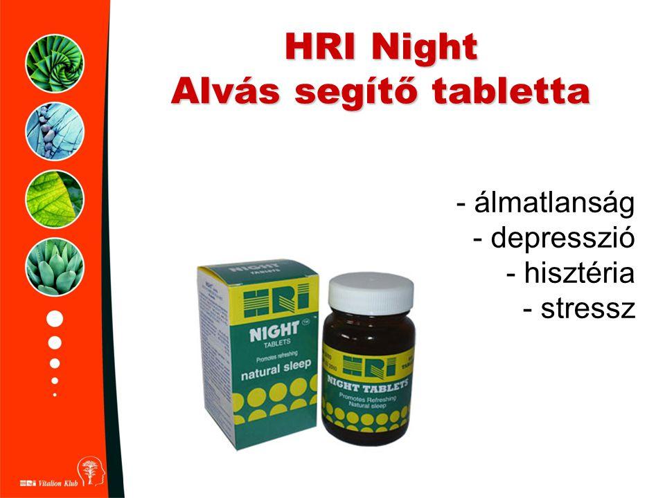 HRI Night Alvás segítő tabletta - álmatlanság - depresszió - hisztéria - stressz