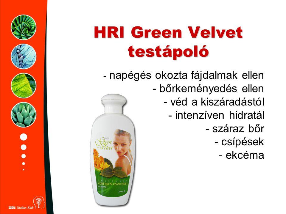 HRI Green Velvet testápoló - napégés okozta fájdalmak ellen - bőrkeményedés ellen - véd a kiszáradástól - intenzíven hidratál - száraz bőr - csípések