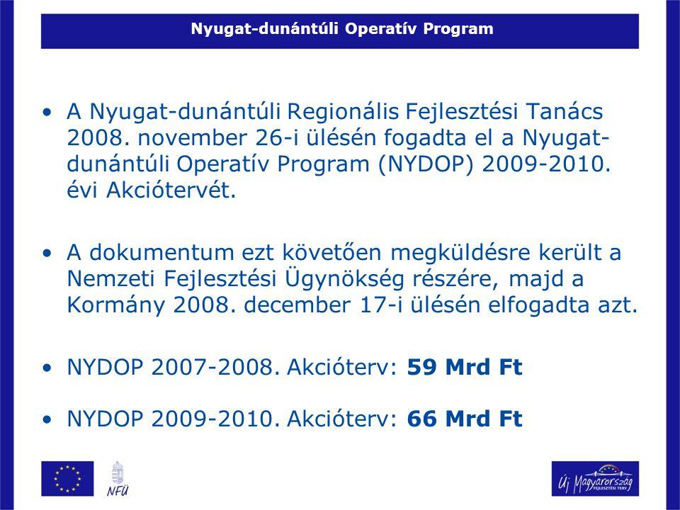 Nyugat-dunántúli Operatív Program •A Nyugat-dunántúli Regionális Fejlesztési Tanács 2008. november 26-i ülésén fogadta el a Nyugat- dunántúli Operatív