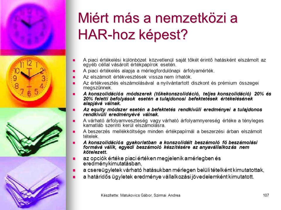 Készítette: Matukovics Gábor, Szirmai Andrea106 Az értékpapírok értékelésének összefoglalója
