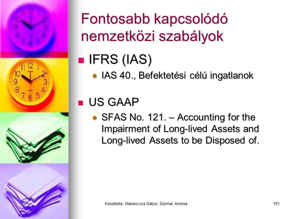 Készítette: Matukovics Gábor, Szirmai Andrea150 Befektetések