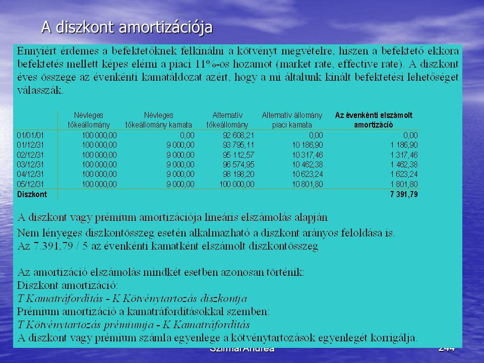 Készítette: Matukovics Gábor, Szirmai Andrea243 Érdemes-e kötvénybe fektetnünk? • Egy kötvény, melynek kibocsátási névértéke (01/01/01-én) 100.000 FAB