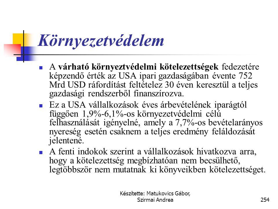 Készítette: Matukovics Gábor, Szirmai Andrea253 Hátrányos szerződések  Olyan szerződés, amelyben  a szerződés alapján  a szerződés teljesítésével k