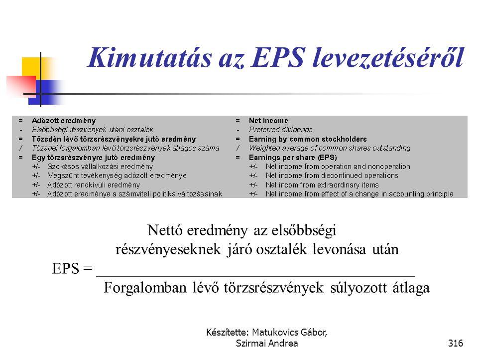 Készítette: Matukovics Gábor, Szirmai Andrea315 EPS mutató