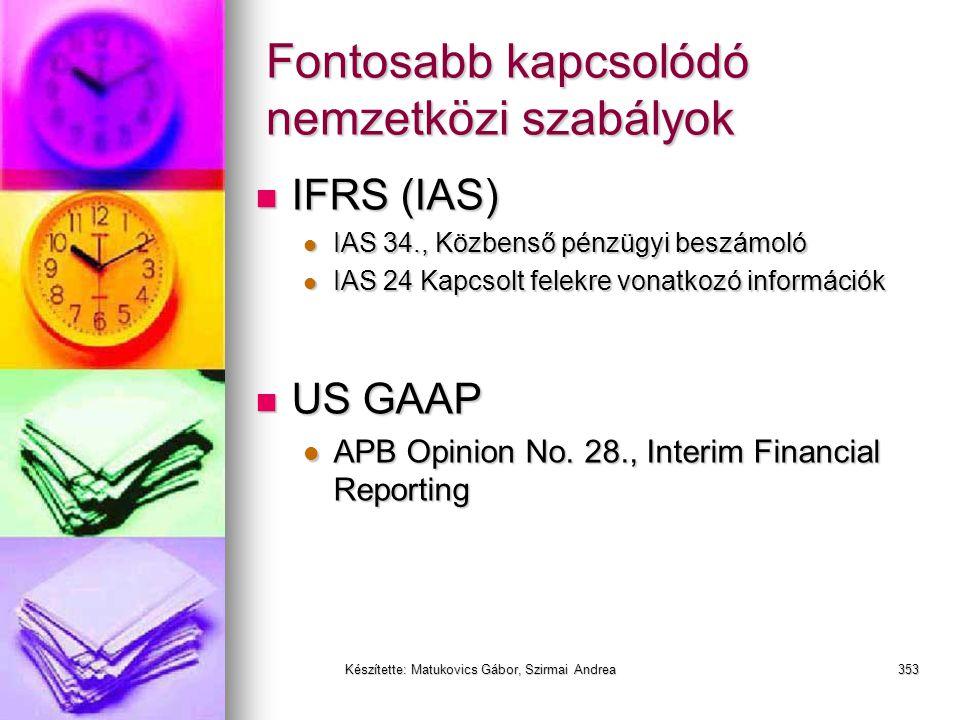 Készítette: Matukovics Gábor, Szirmai Andrea352 Egyéb jelentések