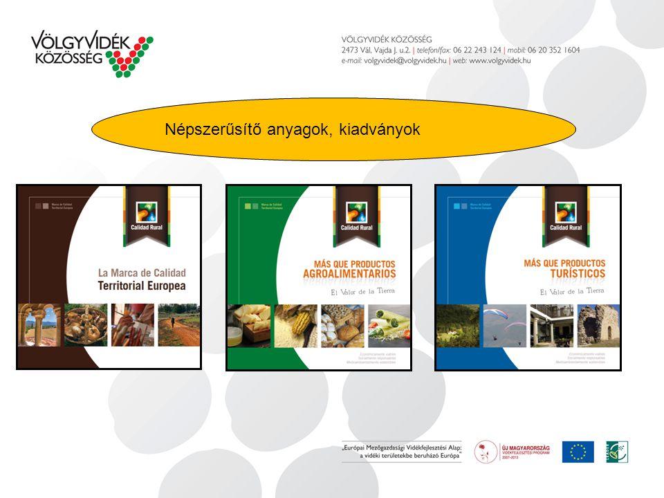 Népszerűsítő anyagok, kiadványok