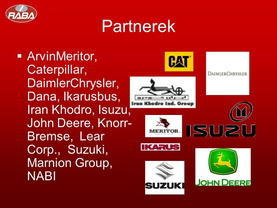 Partnerek  ArvinMeritor, Caterpillar, DaimlerChrysler, Dana, Ikarusbus, Iran Khodro, Isuzu, John Deere, Knorr- Bremse, Lear Corp., Suzuki, Marnion Group, NABI