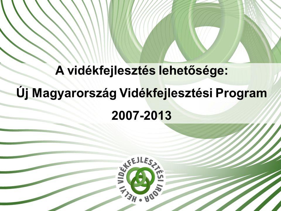 1 A vidékfejlesztés lehetősége: Új Magyarország Vidékfejlesztési Program 2007-2013