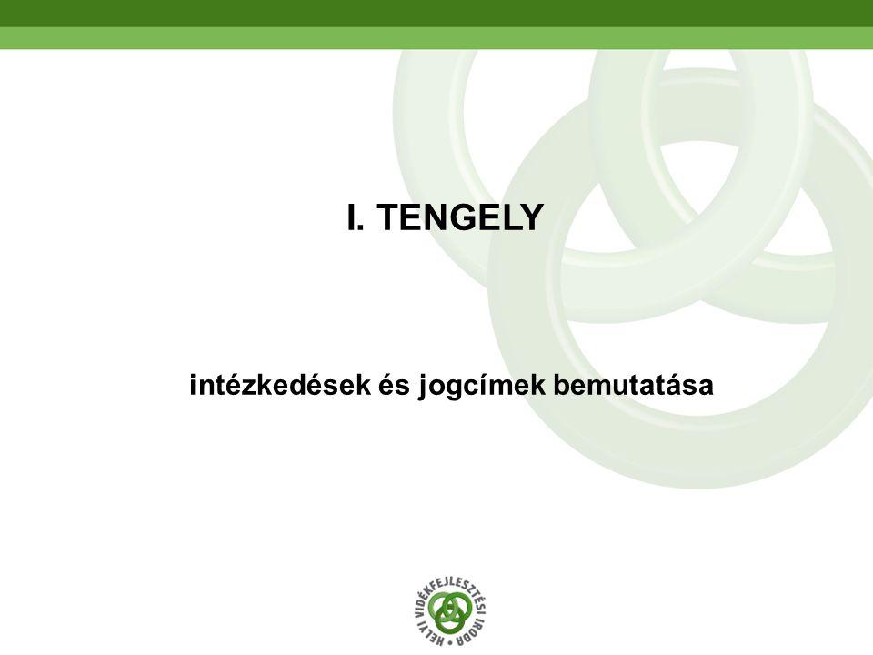 5 intézkedések és jogcímek bemutatása I. TENGELY