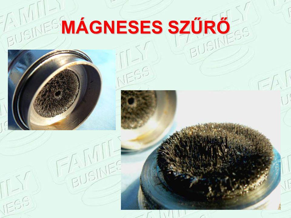 SZERKEZETI FELÉPÍTÉS 1. Mágneses szűrő: összegyűjti a motor finomszűrjén átjutó, 2 mikronnál kisebb fém- és rozsdaszemcséket. 2.Pólusváltó labirintus: