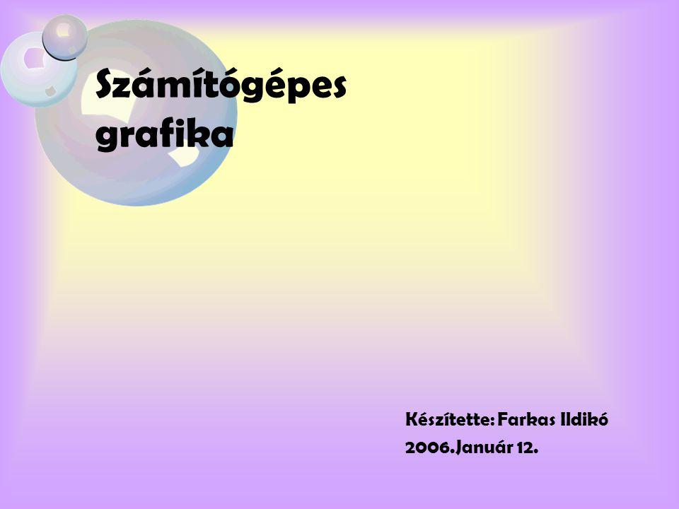 Számítógépes grafika Készítette: Farkas Ildikó 2006.Január 12.