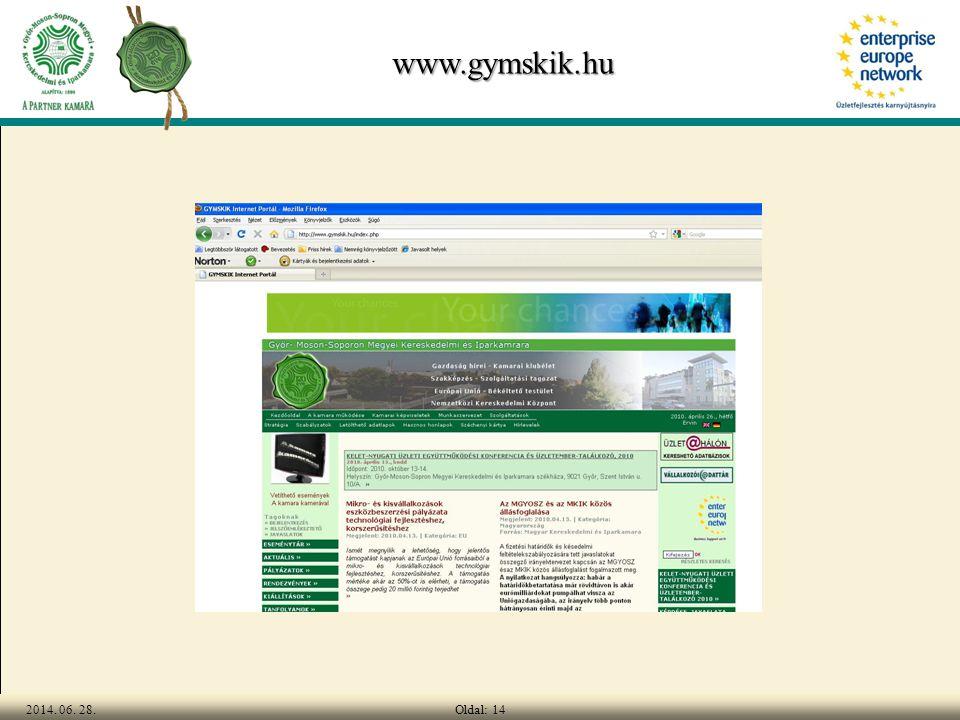 Oldal: 142014. 06. 28. www.gymskik.hu
