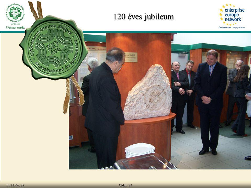 Oldal: 242014. 06. 28. 120 éves jubileum