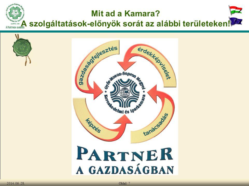 Oldal: 72014. 06. 28. Mit ad a Kamara? A szolgáltatások-előnyök sorát az alábbi területeken!