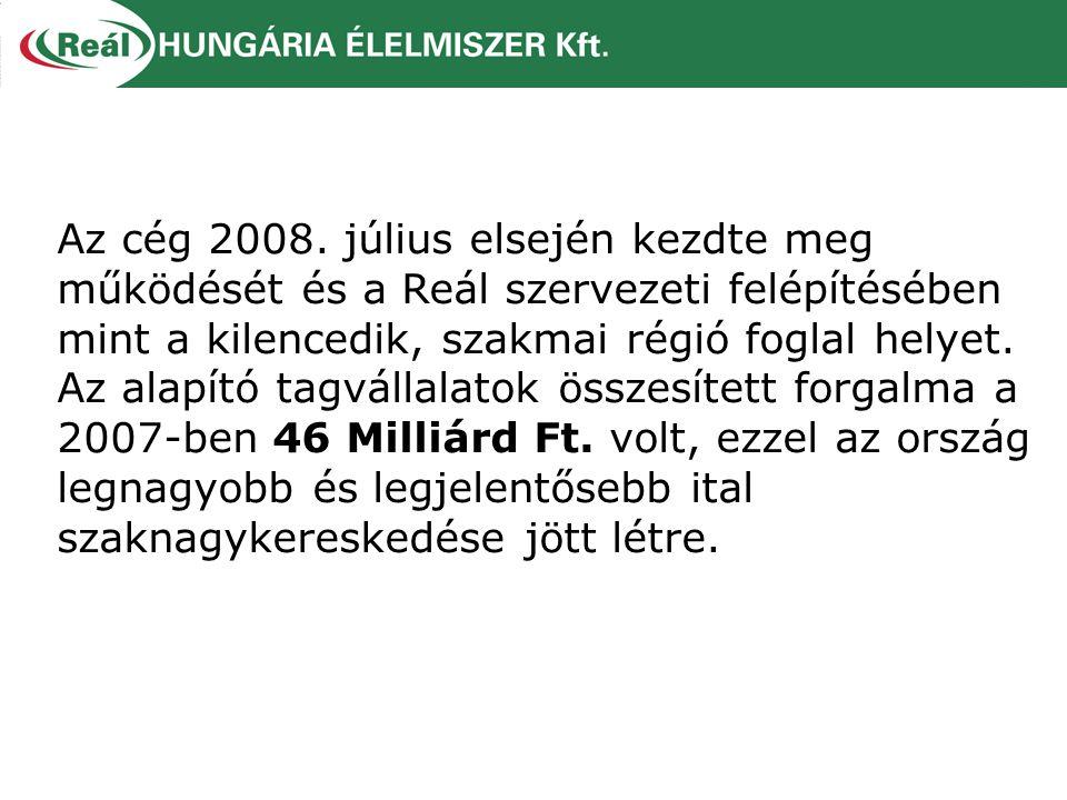 Az cég 2008. július elsején kezdte meg működését és a Reál szervezeti felépítésében mint a kilencedik, szakmai régió foglal helyet. Az alapító tagváll
