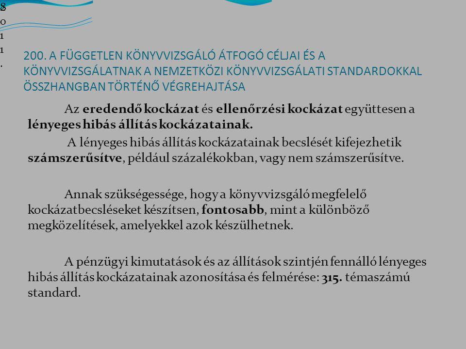19 2.Feladat Jegyzet 11. old. 2012-es audit. Az évszámokhoz 1-et hozzá kell adni!.