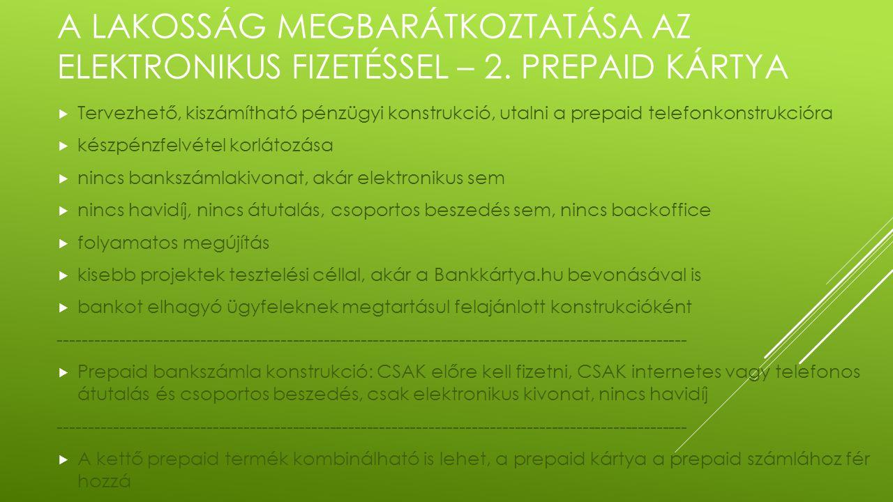 A LAKOSSÁG MEGBARÁTKOZTATÁSA AZ ELEKTRONIKUS FIZETÉSSEL – 2.