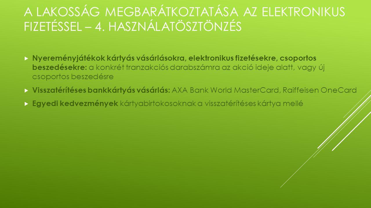 A LAKOSSÁG MEGBARÁTKOZTATÁSA AZ ELEKTRONIKUS FIZETÉSSEL – 4.