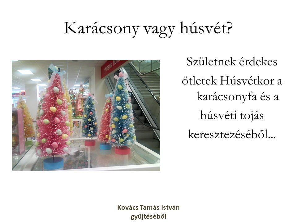 Karácsony vagy húsvét? Születnek érdekes ötletek Húsvétkor a karácsonyfa és a húsvéti tojás keresztezéséből... Kovács Tamás István gyűjtéséből