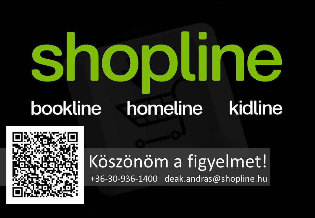Köszönöm a figyelmet! +36-30-936-1400 deak.andras@shopline.hu