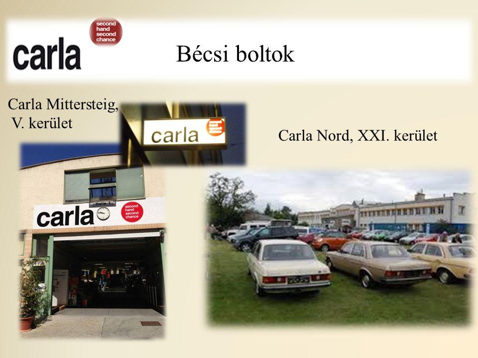Bécsi boltok Carla Nord, XXI. kerület Carla Mittersteig, V. kerület