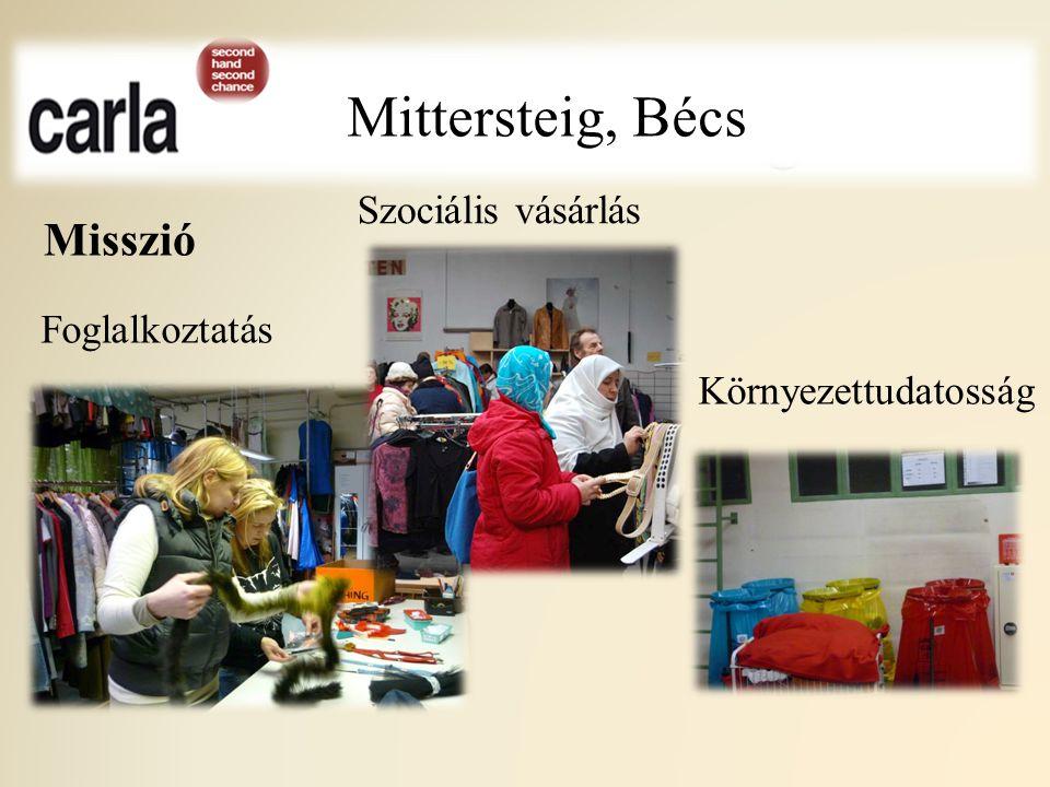 Mittersteig Misszió Mittersteig, Bécs Foglalkoztatás Környezettudatosság Szociális vásárlás