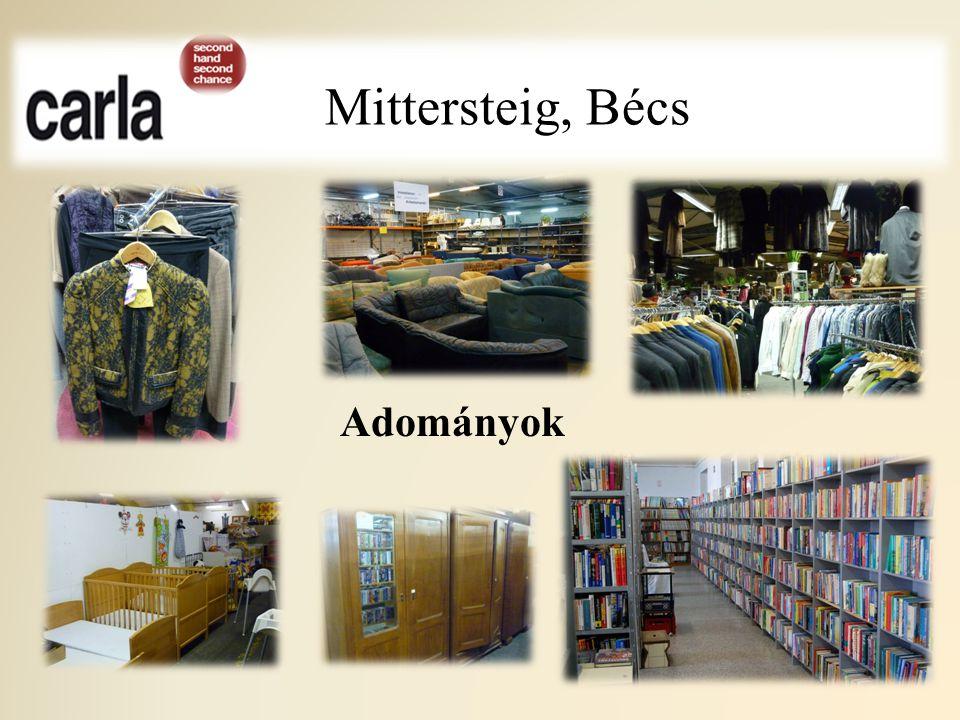 """Mittersteig, Bécs Adományozók, vásárlók célcsoportja : """"Nincs az a tévhit, hogy ide csak szegény emberek járnak vásárolni."""