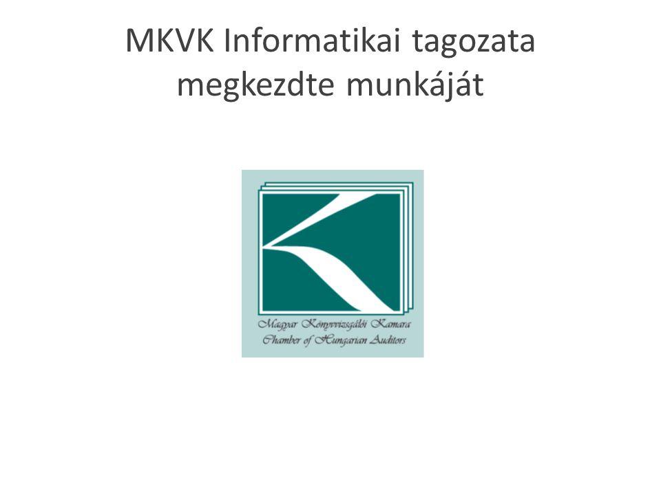 MKVK Informatikai tagozata megkezdte munkáját
