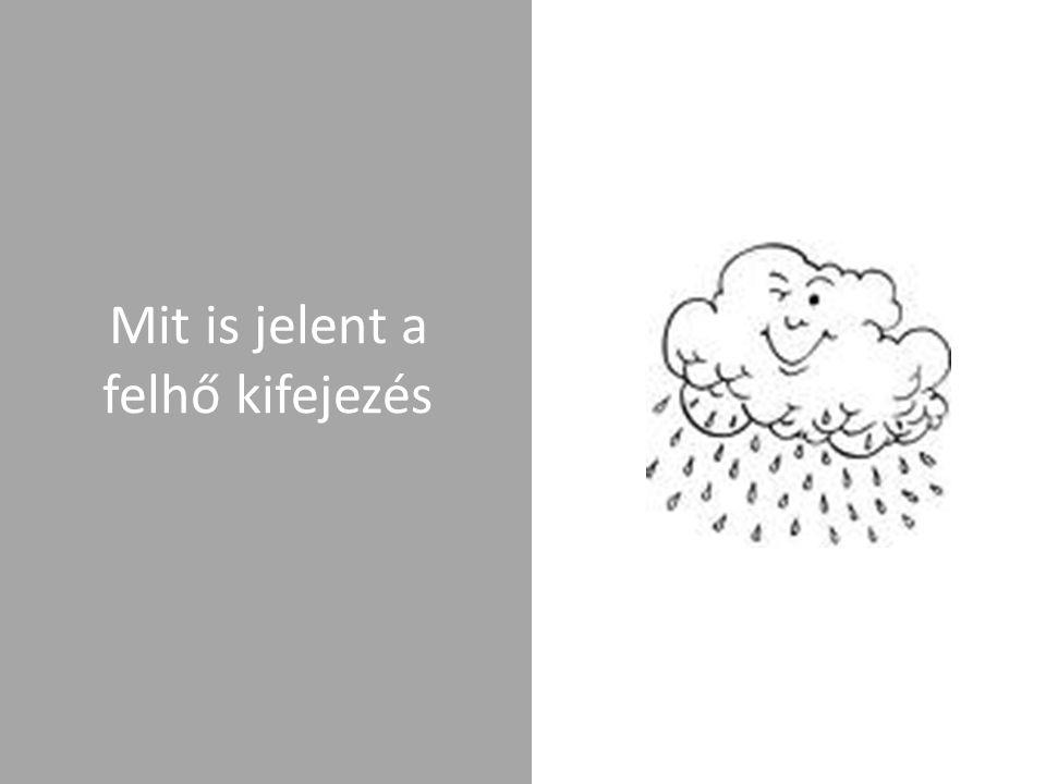 """Cloud computing (számítási felhő) A számítási felhő (angolul """"cloud computing ) a számítástechnika egyik legújabb fogalma."""