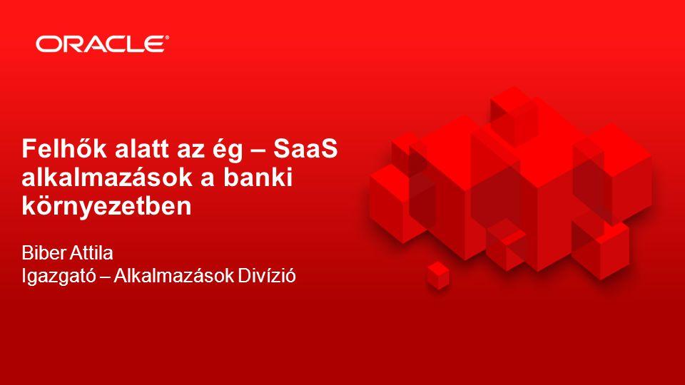 2 Biber Attila Igazgató – Alkalmazások Divízió Felhők alatt az ég – SaaS alkalmazások a banki környezetben