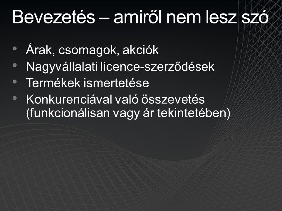 Napirend • Bevezetés • Virtualizáció és támogatás • Virtualizáció licencelési alapok • Szerver virtualizáció licencelés • Desktop virtualizáció és licencelés • System Center licencelés • Kérdések és válaszok