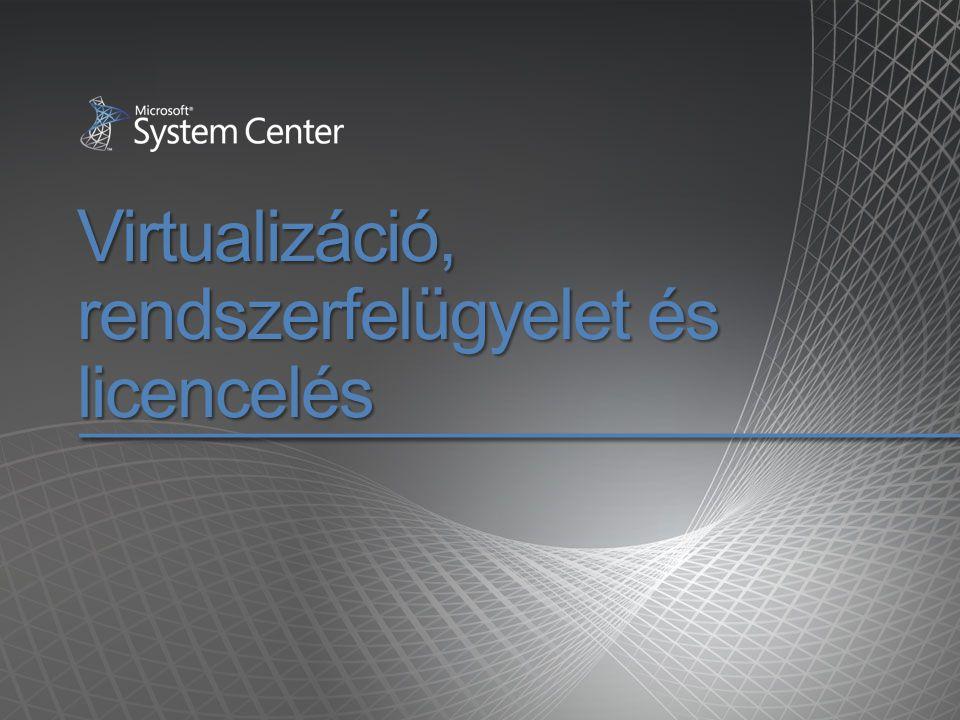 Virtualizáció, rendszerfelügyelet és licencelés