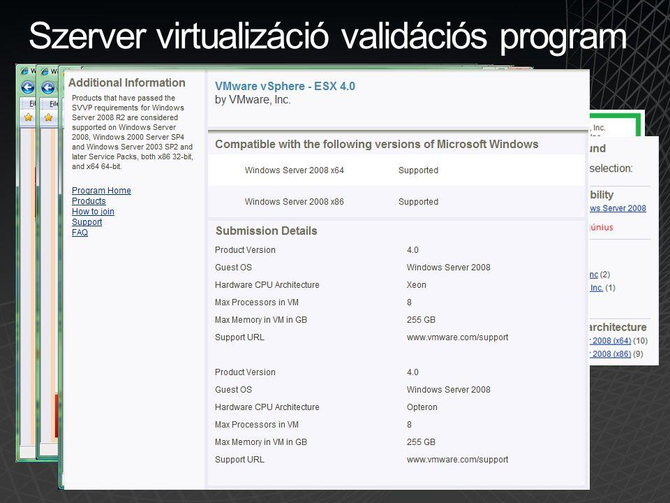 Szerver alkalmazások •Figyelem.Nem szerver operációs rendszerek.