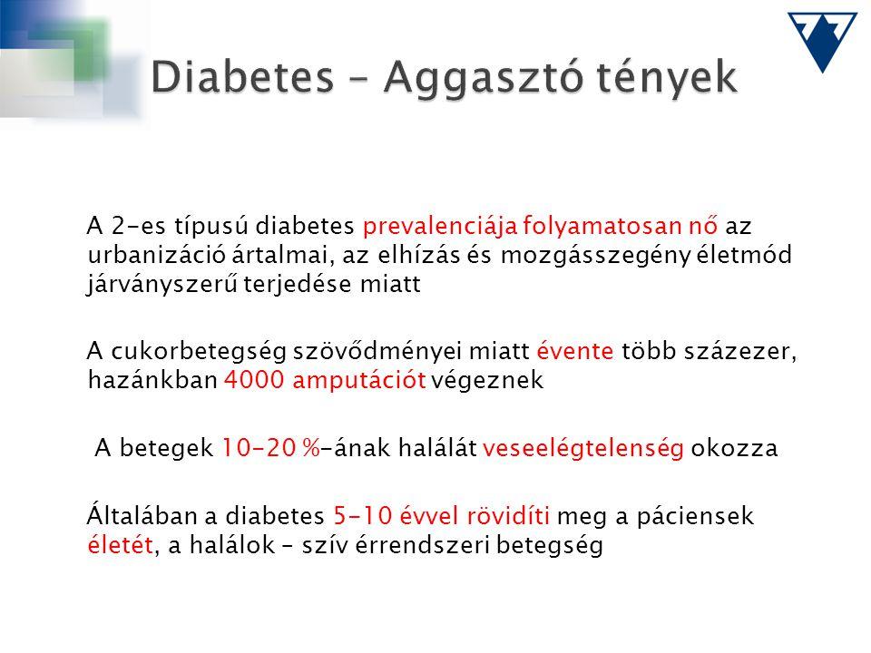 A 2-es típusú diabetes prevalenciája folyamatosan nő az urbanizáció ártalmai, az elhízás és mozgásszegény életmód járványszerű terjedése miatt A cukor