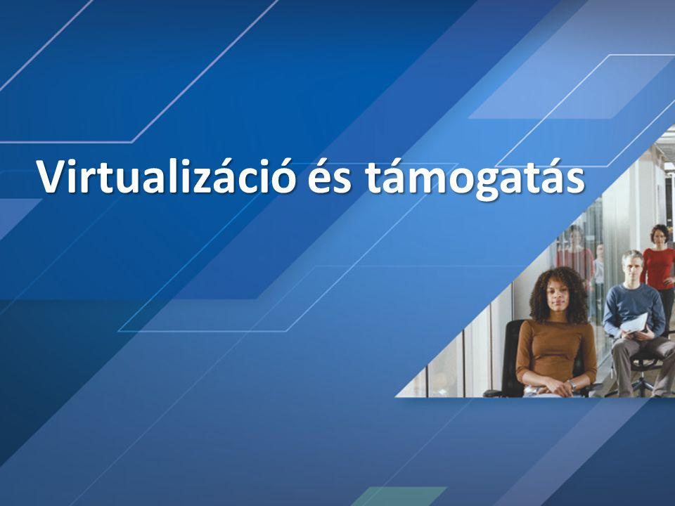 Server Virtualization Validation Program (SVVP) A legjobb környezet biztosítása a Windows Server 2008 számára A harmadik gyártótól származó hypervisort futtató ügyfelek elégedettségének növelése A Windows kiszolgálók támogatásának javítása • Validációs program létrehozása a nem MS hypervisorok számára • A legtöbb jelenlegi WHQL követése • Egy hivatalos álláspont kibocsátása a gyártók számára, hogy támogatható megoldásuk van • Támogatás a TSAnet-tel Célok: Megoldás: Probléma: interoperabilitás.