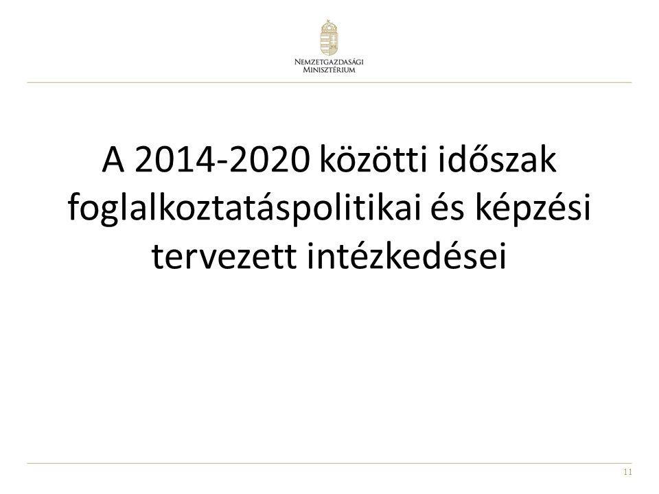 11 A 2014-2020 közötti időszak foglalkoztatáspolitikai és képzési tervezett intézkedései