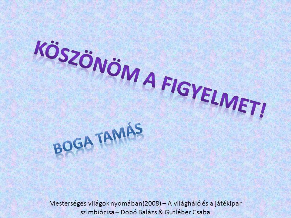 Mesterséges világok nyomában(2008) – A világháló és a játékipar szimbiózisa – Dobó Balázs & Gutléber Csaba