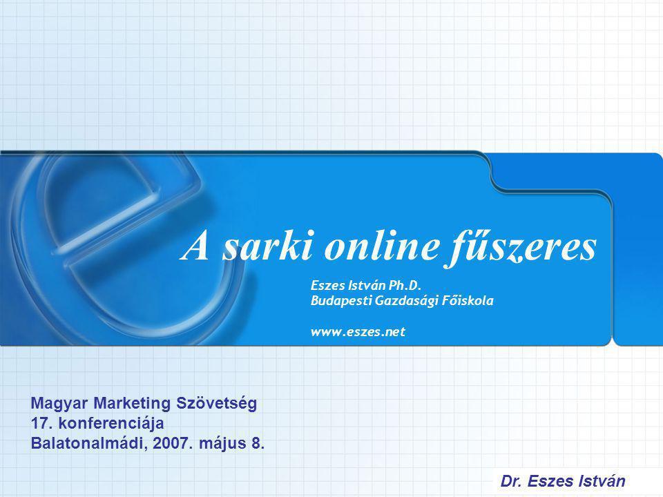 Dr.Eszes István Az ajánlás alapú eladás C2B módja Online kereskedő 1.
