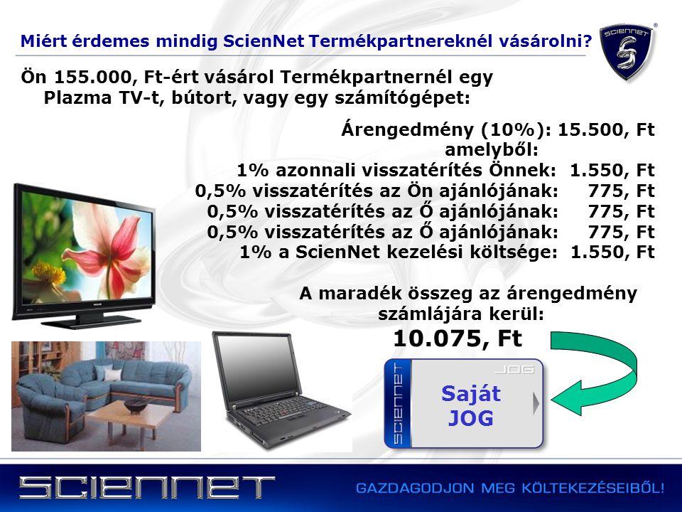 Miért érdemes mindig ScienNet Termékpartnereknél vásárolni? Árengedmény (10%): 15.500, Ft amelyből: 1% azonnali visszatérítés Önnek: 1.550, Ft 0,5% vi