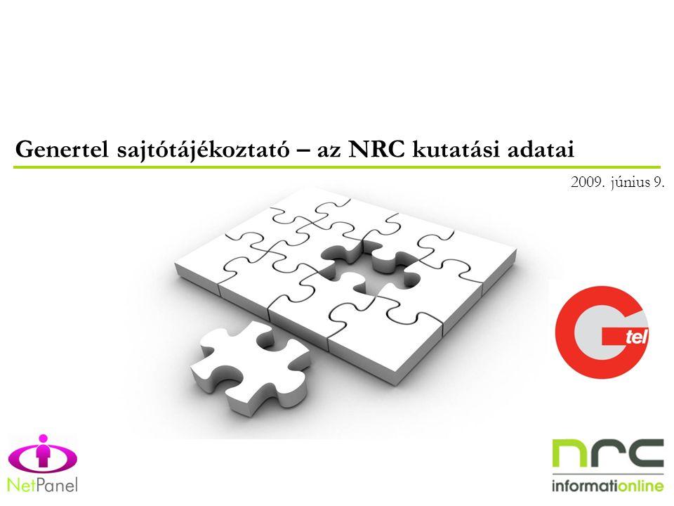 Genertel sajtótájékoztató – az NRC kutatási adatai 2009. június 9.