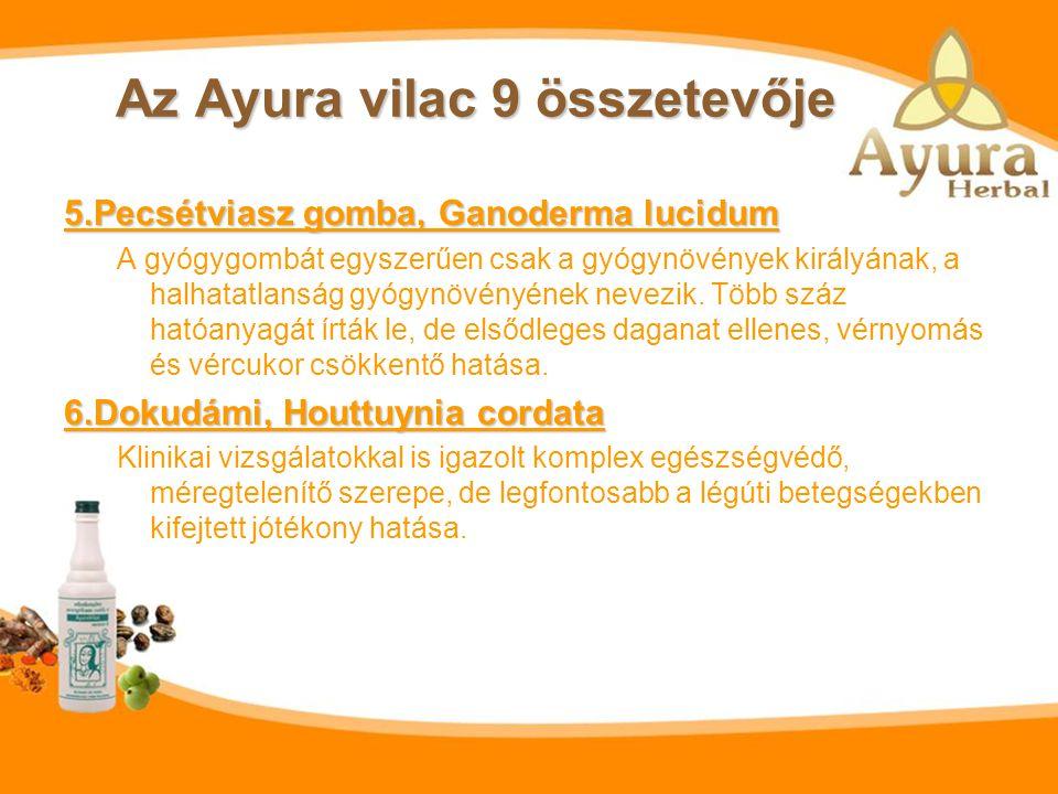 Az Ayura vilac 9 összetevője 3. Sárga kurkuma – Curcuma longa Daganatellenes hatása miatt került az érdeklődés középpontjába, több klinikai vizsgálat