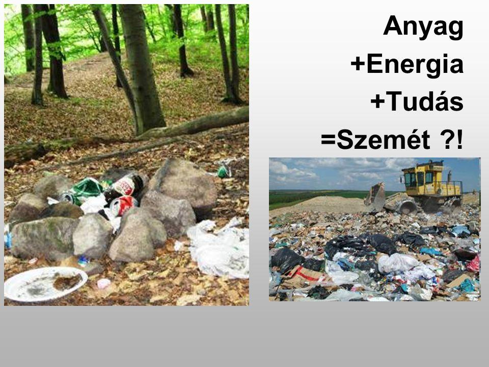 Anyag +Energia +Tudás =Szemét ?!