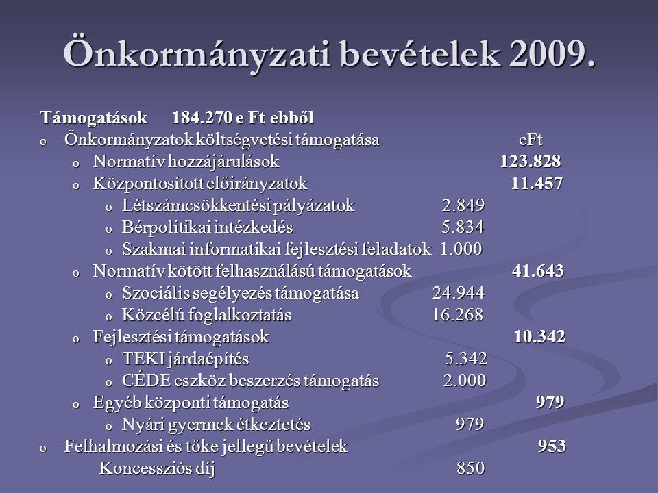 Önkormányzati bevételek 2009.