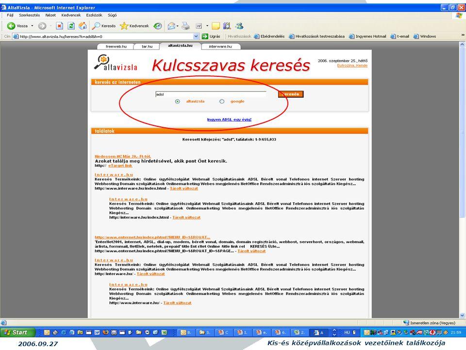 2006.09.27 Kis-és középvállalkozások vezetőinek találkozója 17 Kulcsszavas keresés