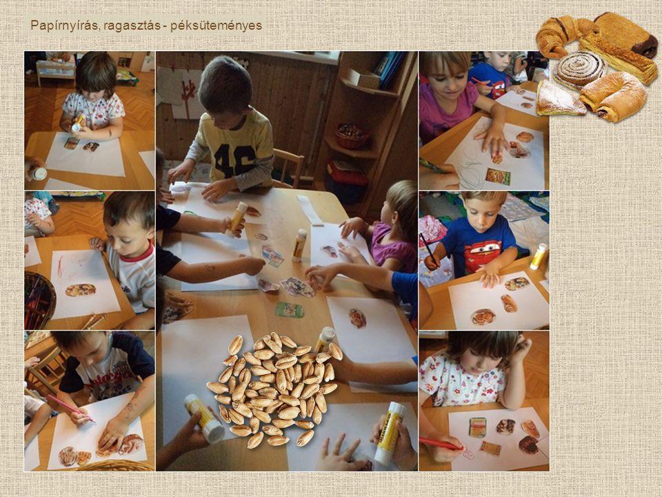 Papírnyírás, ragasztás - péksüteményes