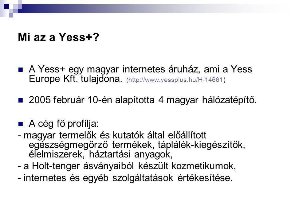 Mi az a Yess+.  A Yess+ egy magyar internetes áruház, ami a Yess Europe Kft.