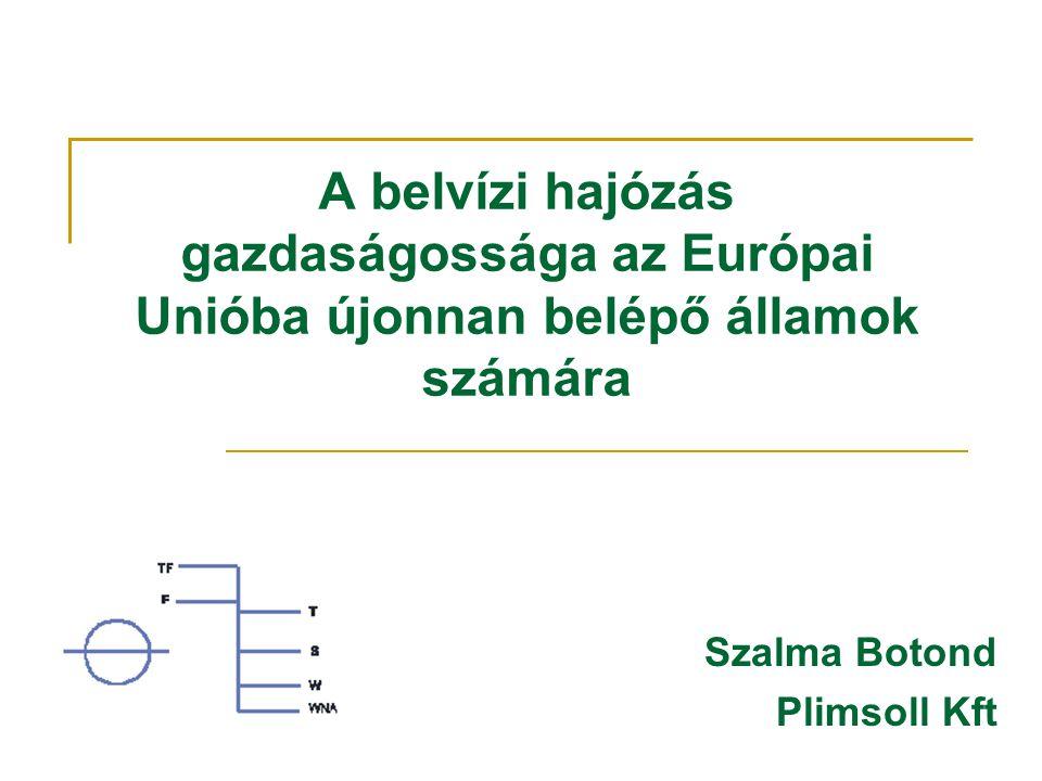 A belvízi hajózás gazdaságossága az Európai Unióba újonnan belépő államok számára Szalma Botond Plimsoll Kft