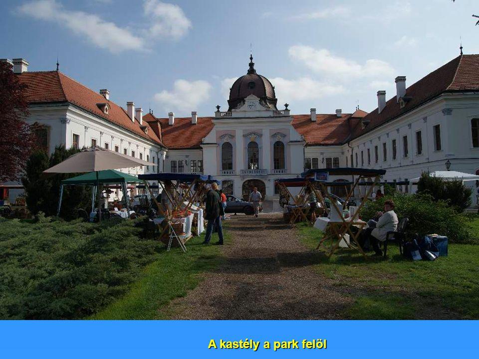 A kastély a park felöl