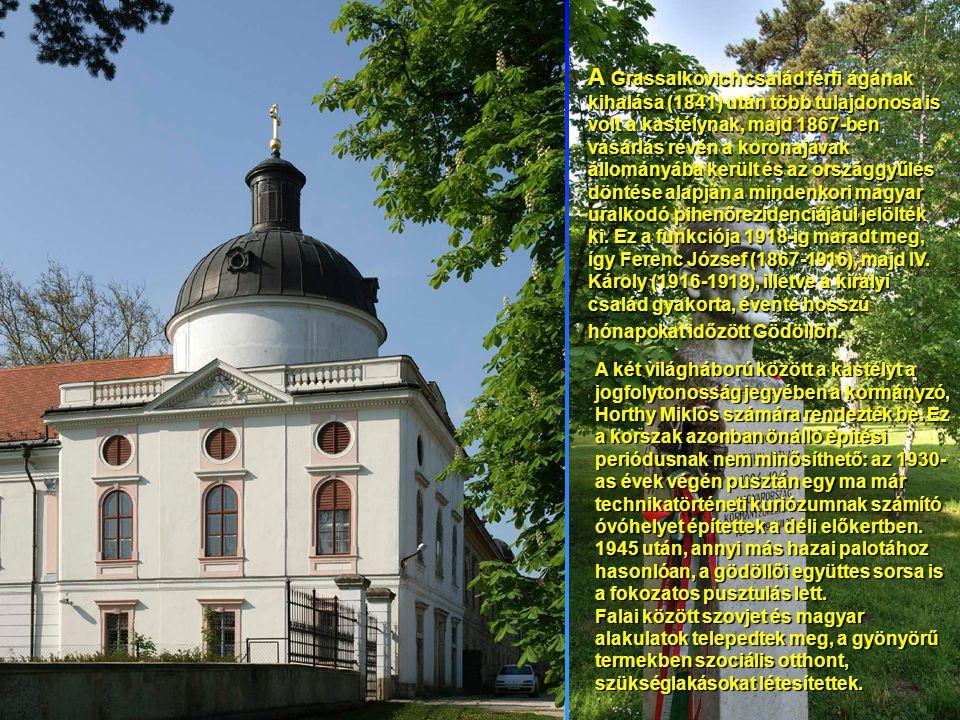 A Grassalkovich család férfi ágának kihalása (1841) után több tulajdonosa is volt a kastélynak, majd 1867-ben vásárlás révén a koronajavak állományába került és az országgyűlés döntése alapján a mindenkori magyar uralkodó pihenőrezidenciájául jelölték ki.