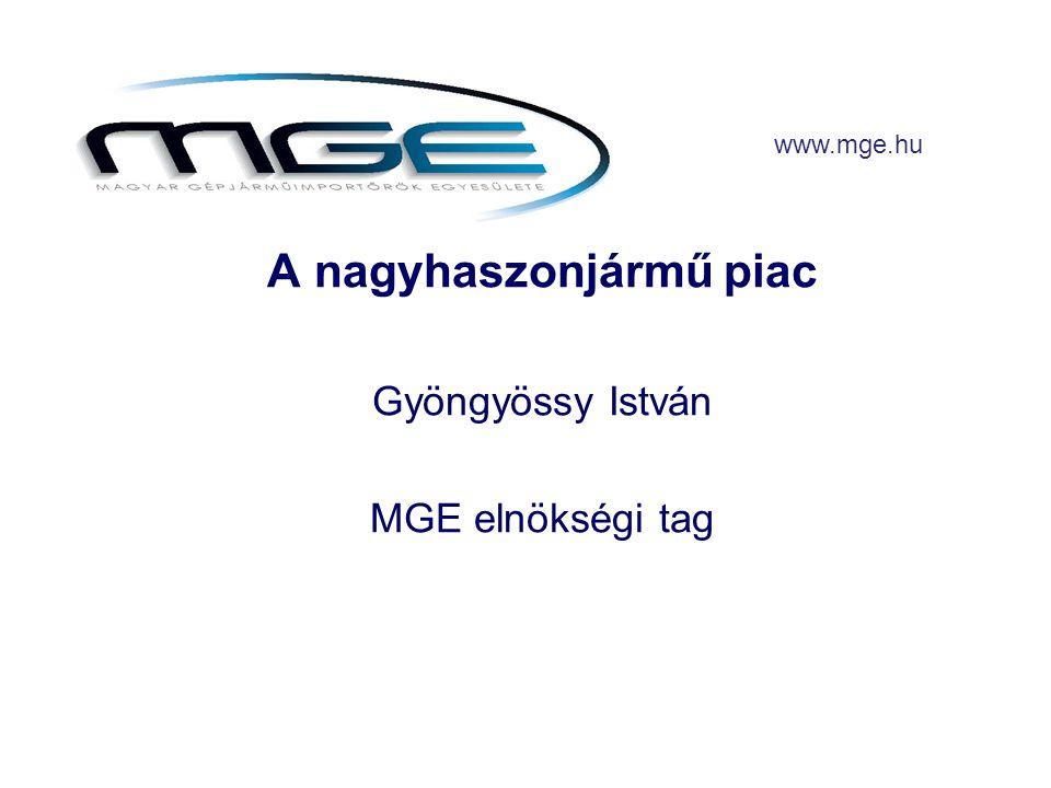 A nagyhaszonjármű piac Gyöngyössy István MGE elnökségi tag www.mge.hu
